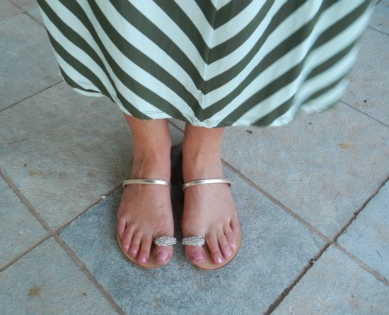 Target striped maxi shoes