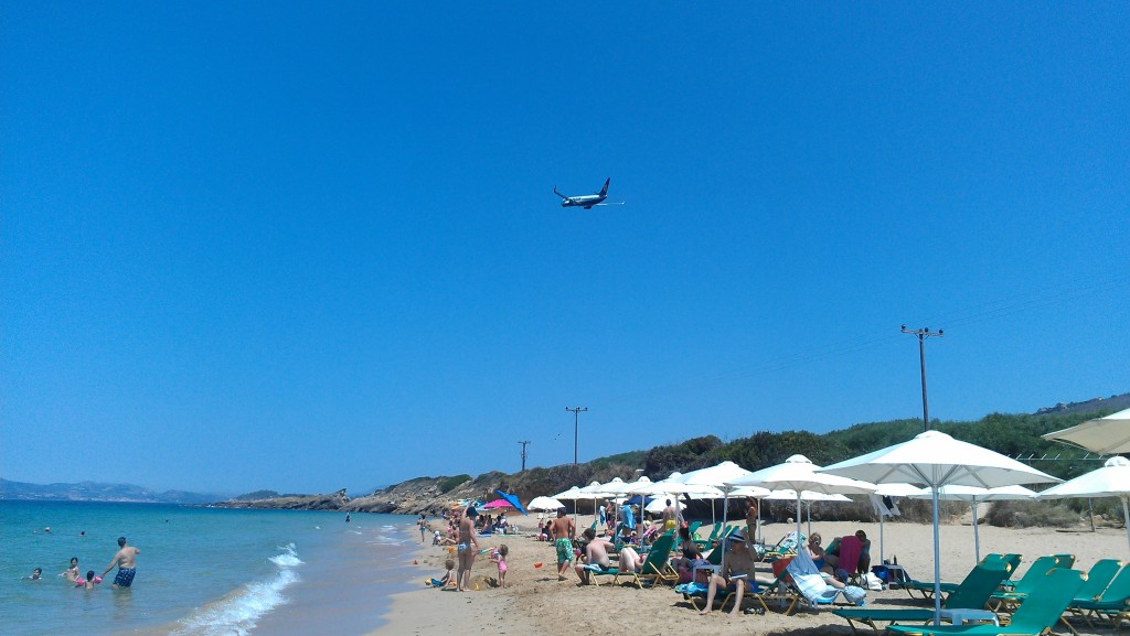 Grand Sabia Beach, Minies, Kefalonia just under the airport