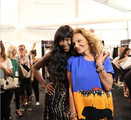 DVF and Naomi Campbell NYFW SS 2014