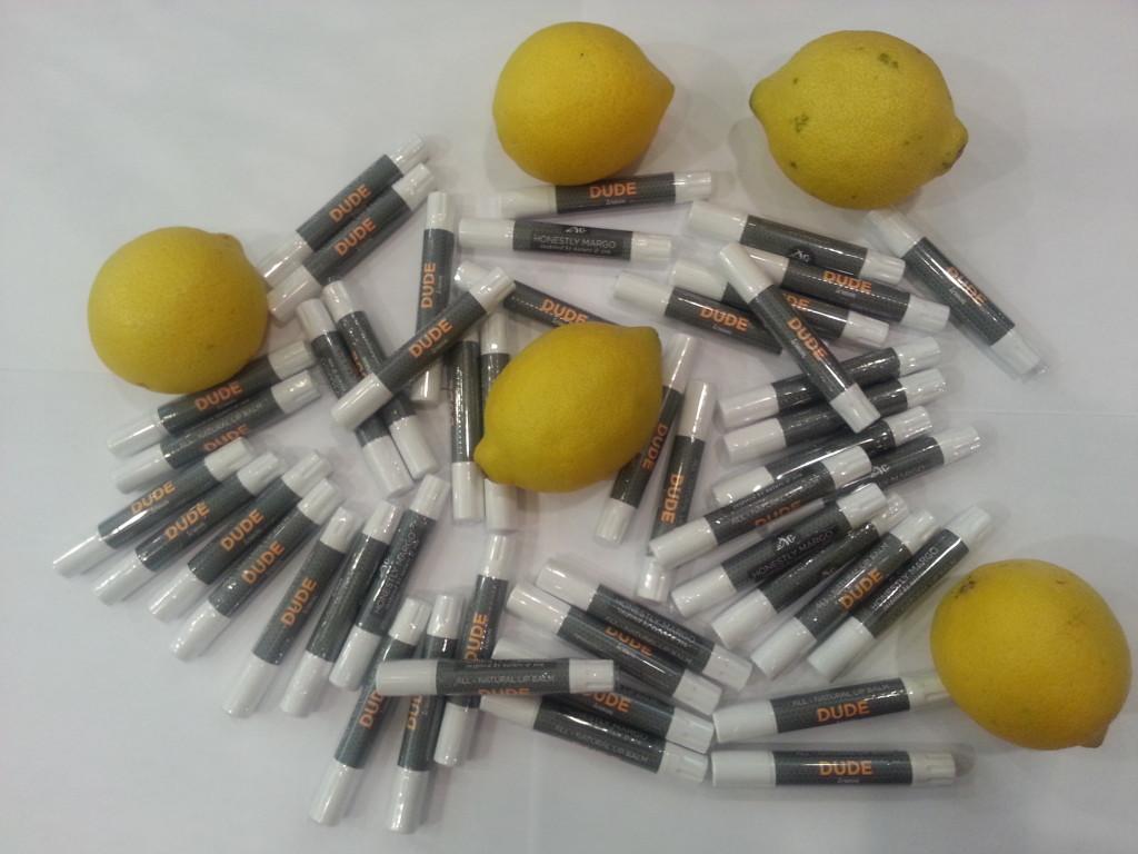 DUDE Lemon Lip Balm, Honestly Margo