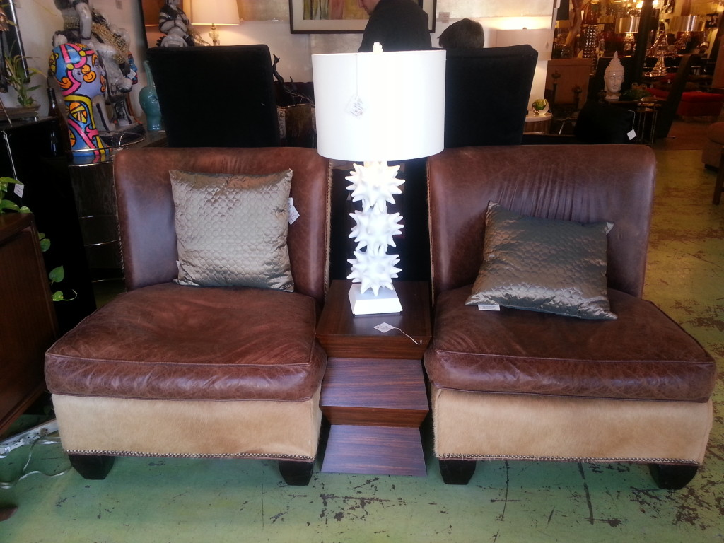 Leather and Pony Chairs - the op life