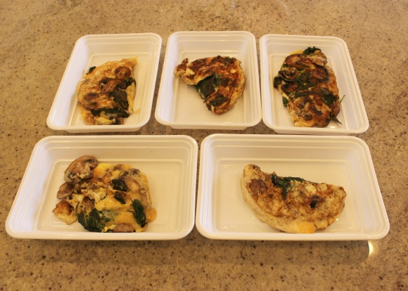 Five omelets