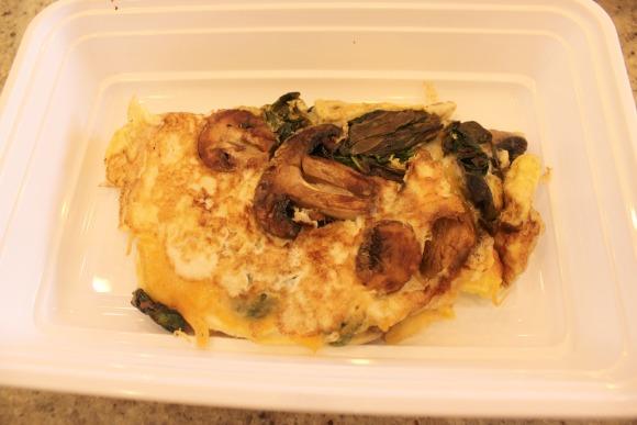 mushroom spinach omelete