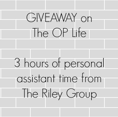 3 Hours of TIme Giveaway on The OP Life