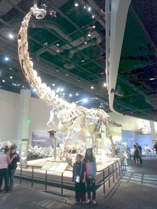 Giant Dino at Perot Museum