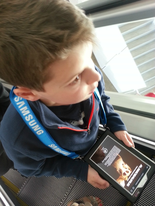 Kosta with Samsung Tablet at Perot Museum