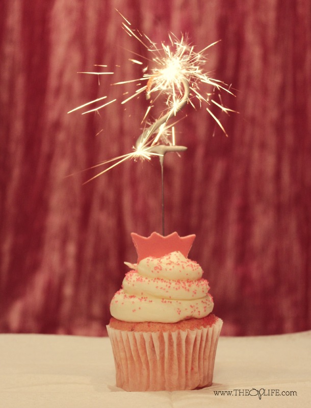 Cupcake 2 Year Birthday Sparkler Pink Gold - The OP Life