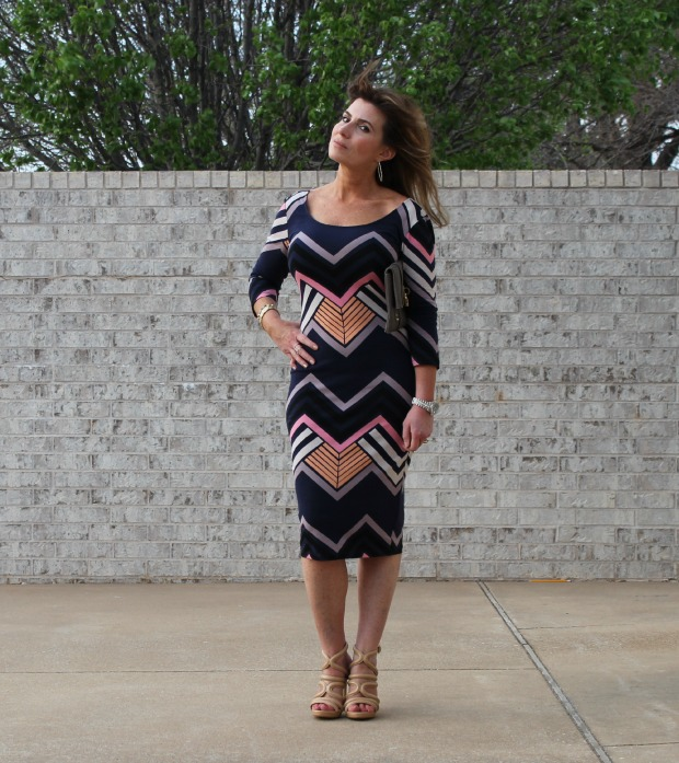 Target Striped Retro Straight Dress - The OP Life