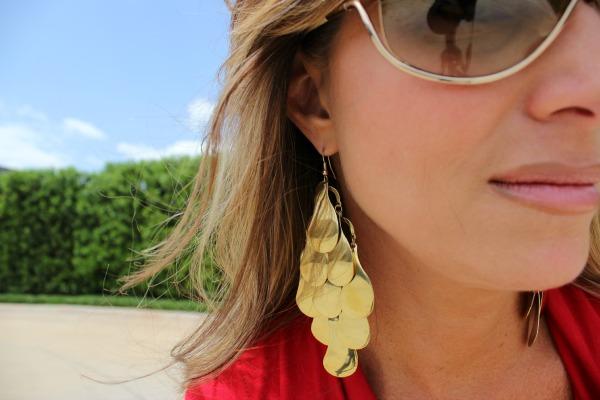 Lady in Red Earrings - The OP Life