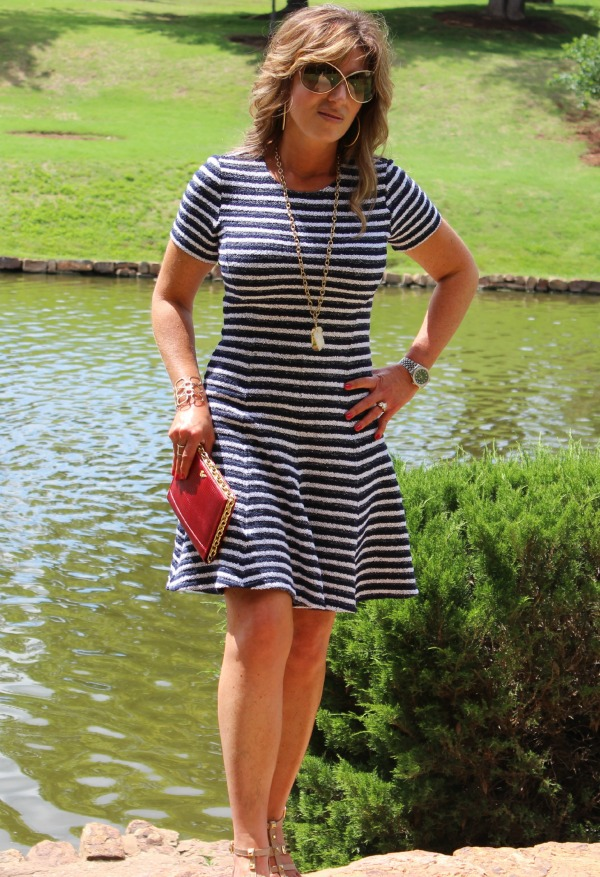 Striped Theory Dress CK The OP Life