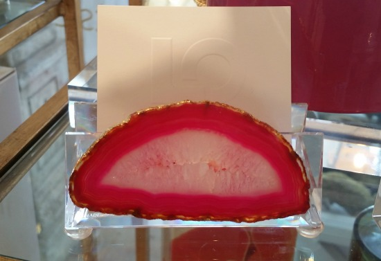 Agate Business Card Holder Luxe Objects The OP Life