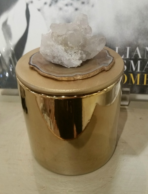 Gold Geode Quartz Candle Luxe Object The OP Life