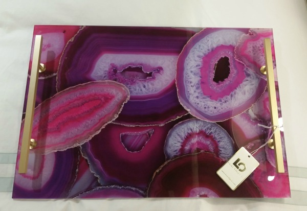 Magenta Agate Tray Luxe Objects The OP Life