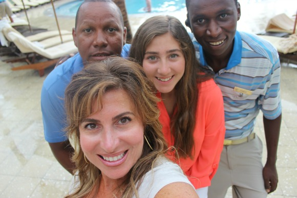 Selfie with Honestly Margo, Robert, James at The Ritz Carlton Grand Cayman