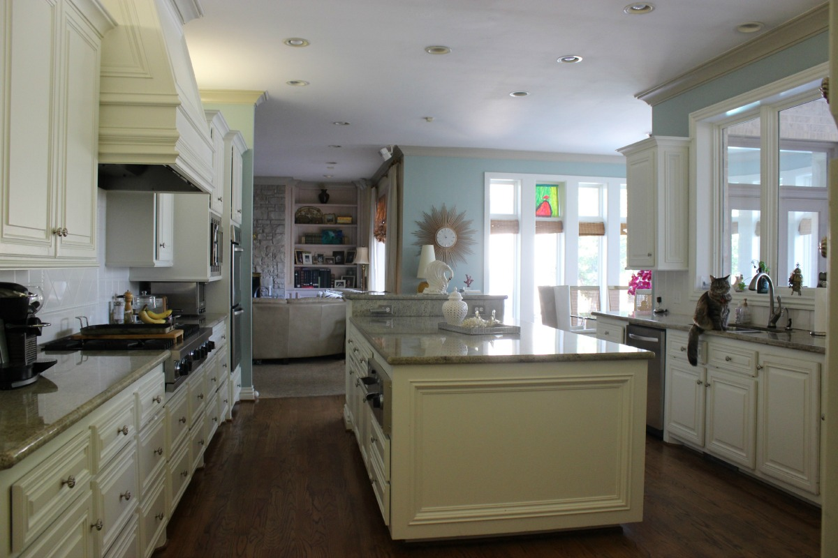 Kitchen before drum pendant chandelier The OP Life