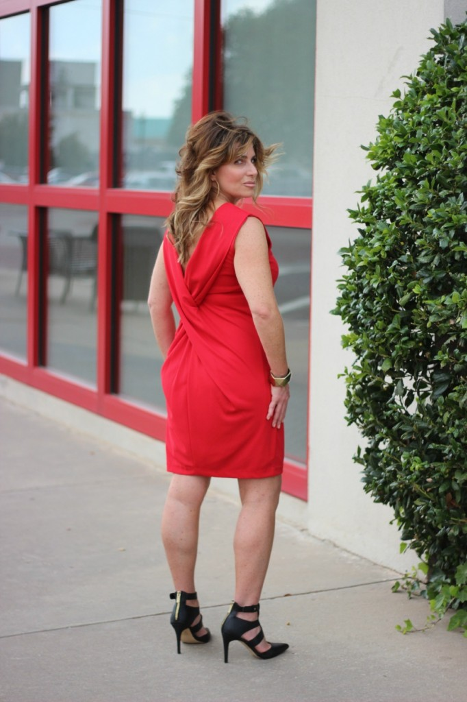 Red Dress Dolce Vita Shoes Shira Melody Necklace 2 The OP Life