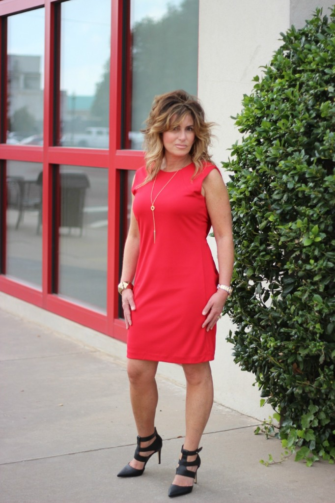 Red Dress Dolce Vita Shoes Shira Melody Necklace The OP Life