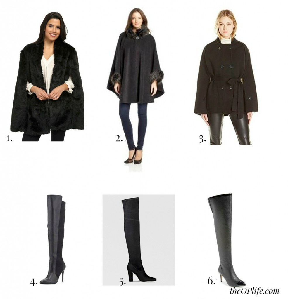 Capes and Over the knee boots
