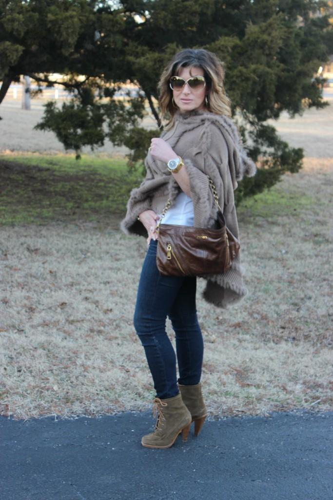 Fur Hooded Poncho Prada Bag 2 The OP Life