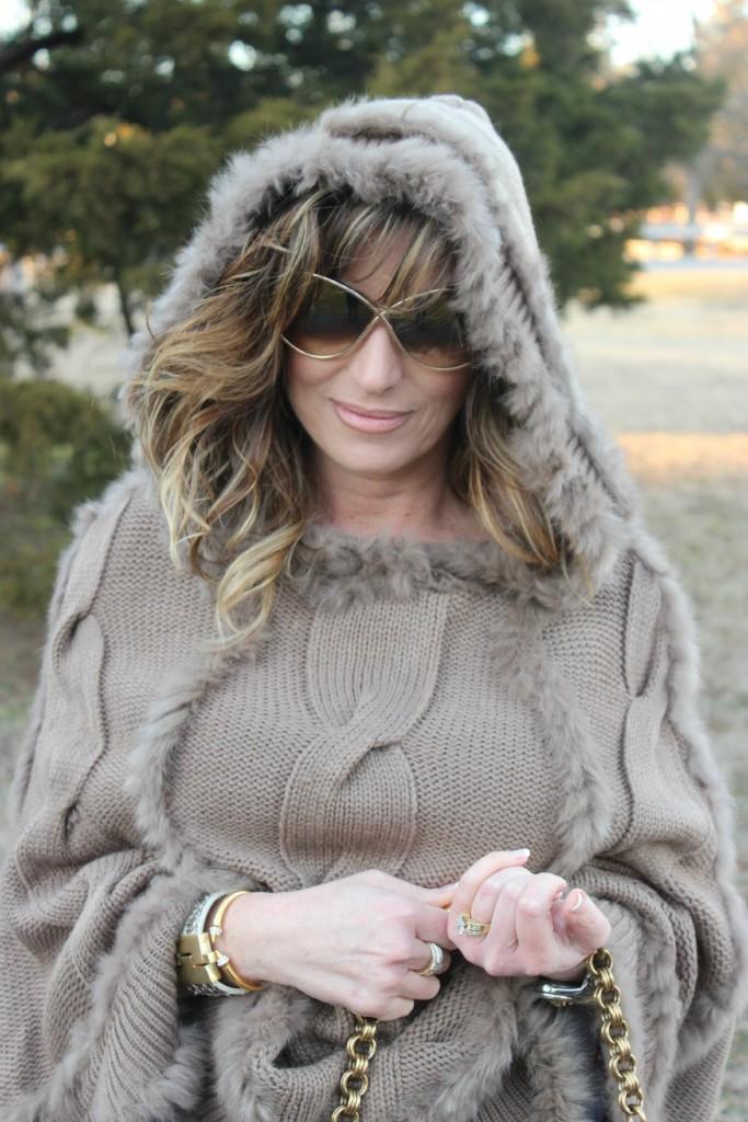 Fur Hooded Poncho Prada Bag 6 The OP Life