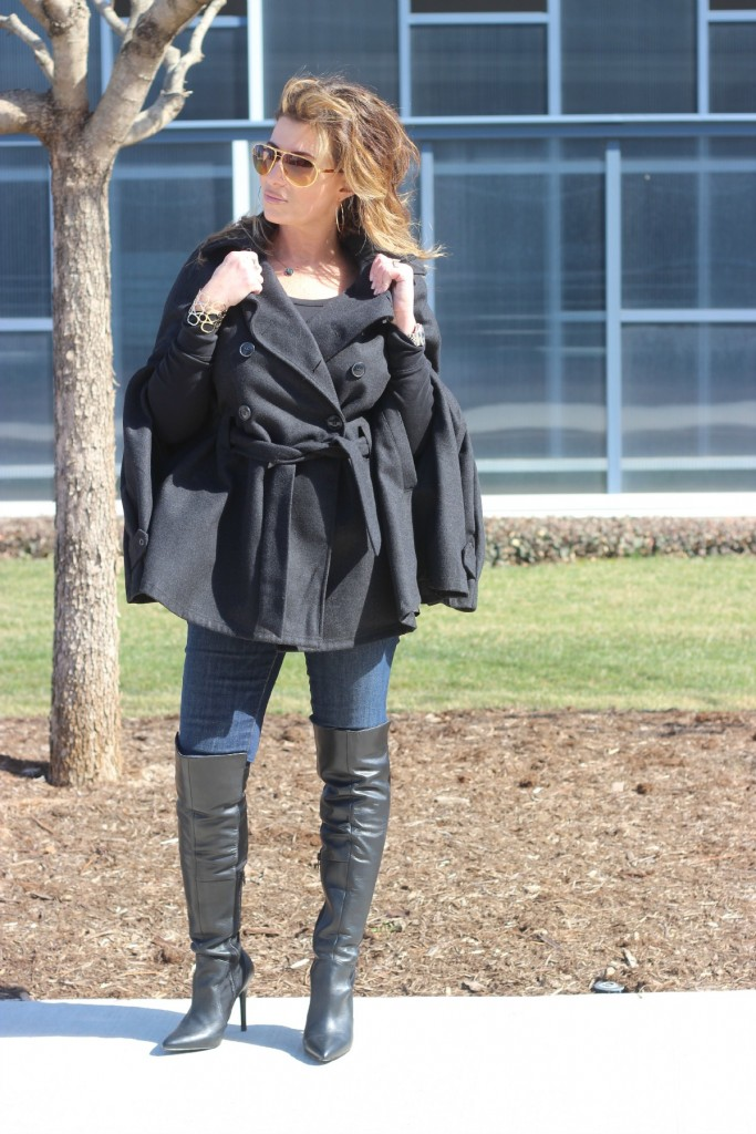 Over the knee boots with cape The OP Life 2