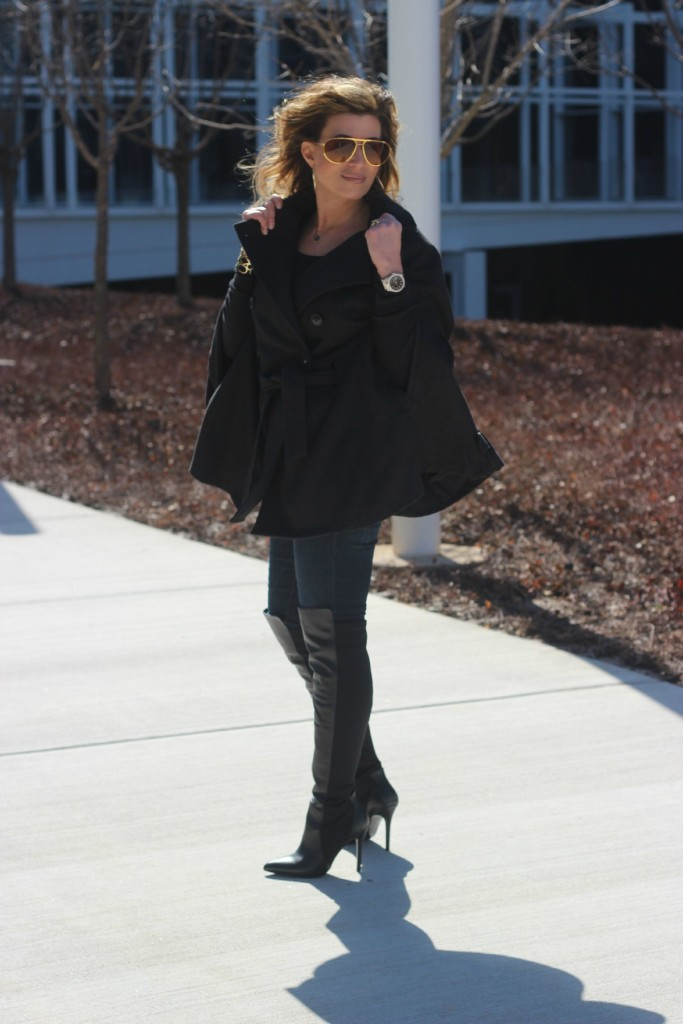 Over the knee boots with cape The OP Life 5