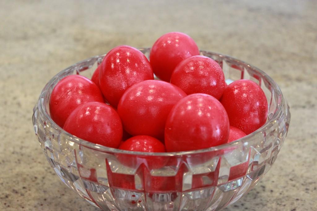 Greek Orthodox Red Easter Eggs
