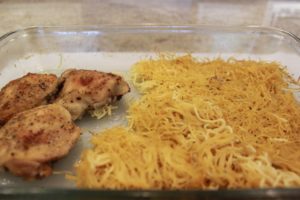 Baked Chicken and Angel Hair