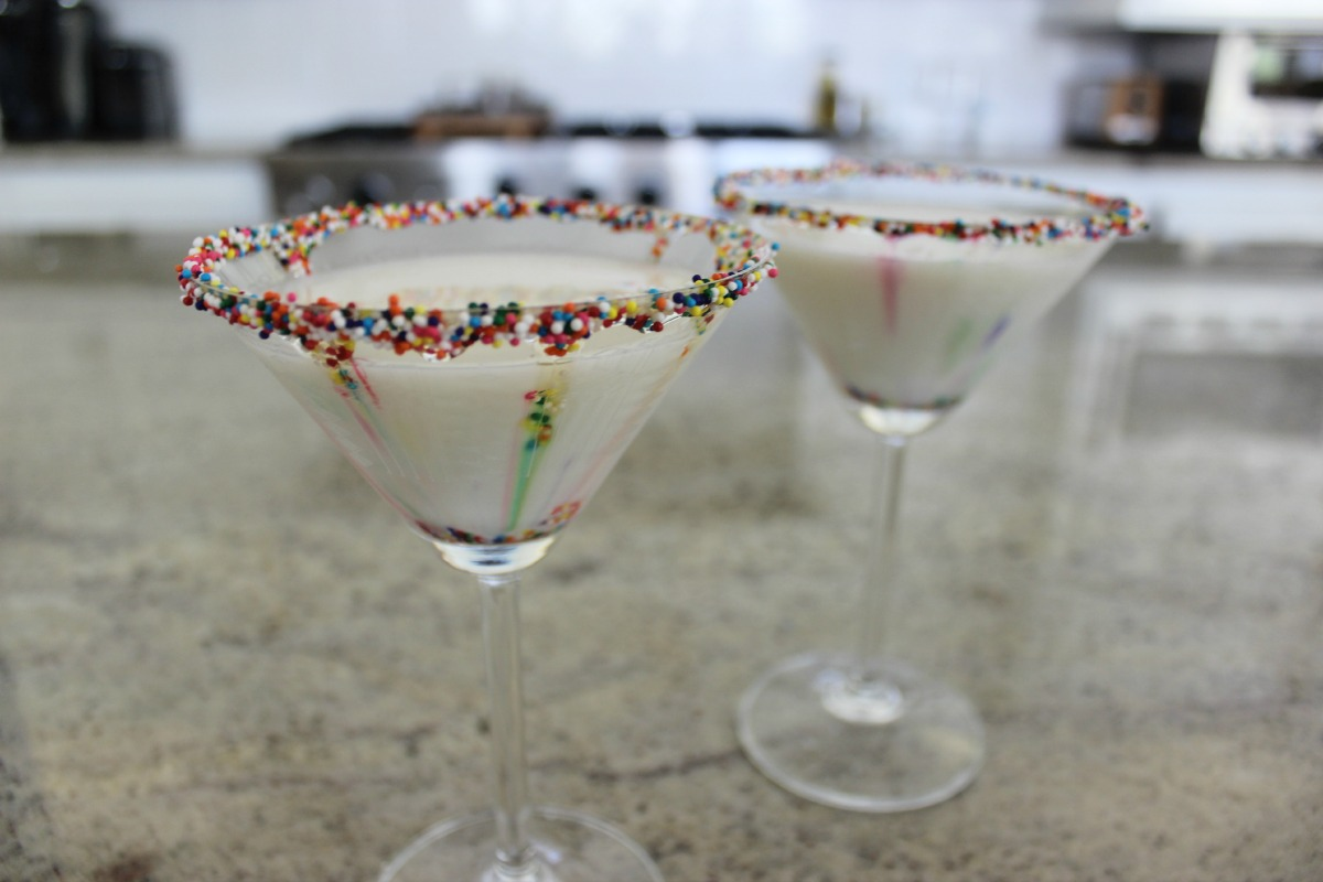 Fuzzy Friday Birthday Cake Martini