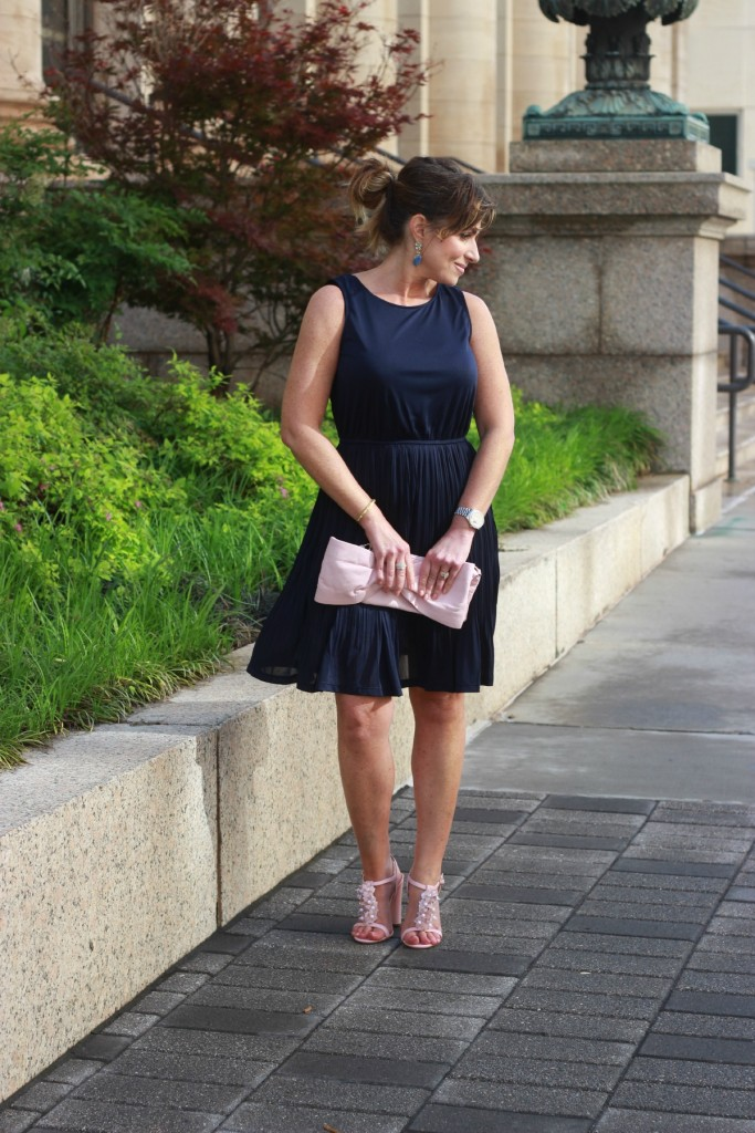 What to wear to an Elegant Dinner Party Navy Pink Red Valentino