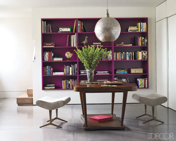 Make-your-bookshelves-pop-painting-them-similarly-bold-bright