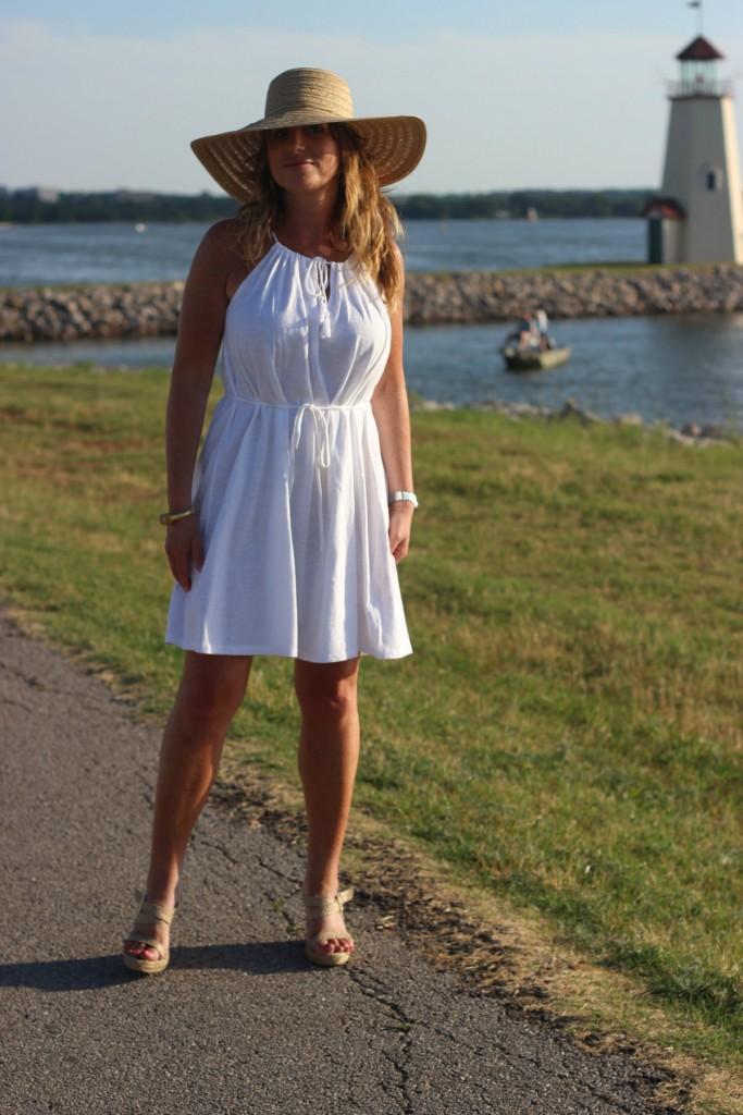 Target Hat White Dress Island Dressing