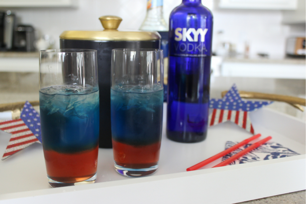 Firecracker Cooler 5 Red white and blue cocktail