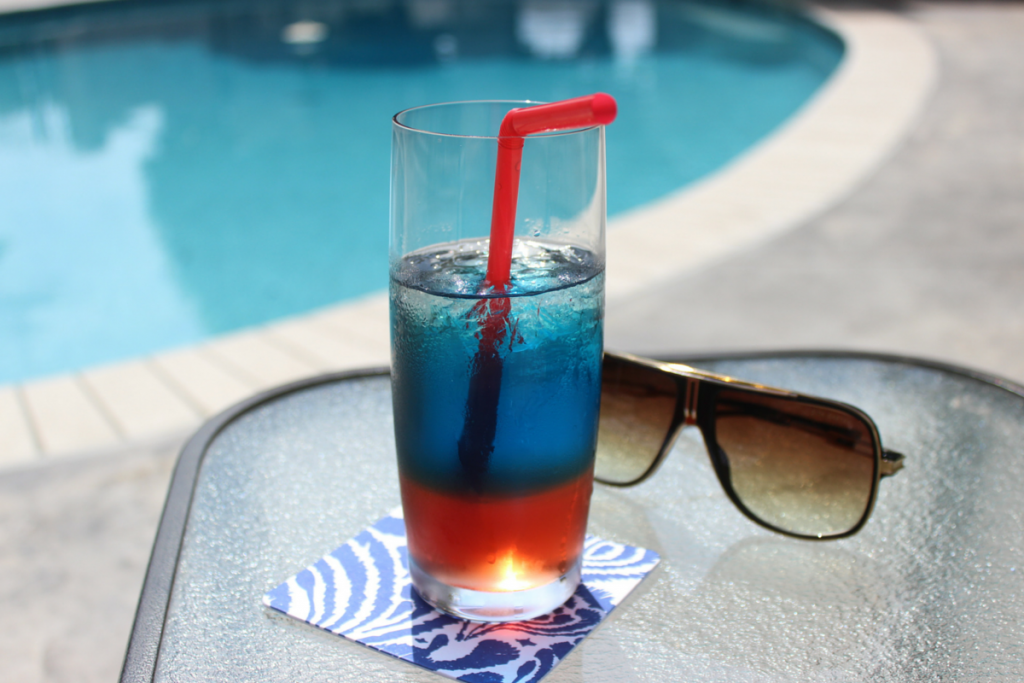 Fuzzy Friday:  Red White and Blue Cocktail