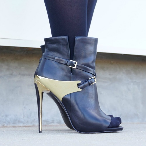 Rachel Zoe black gold booties The OP Life soliloquy