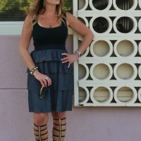 Theory dress Dita sunglasses black gladiators 4-01