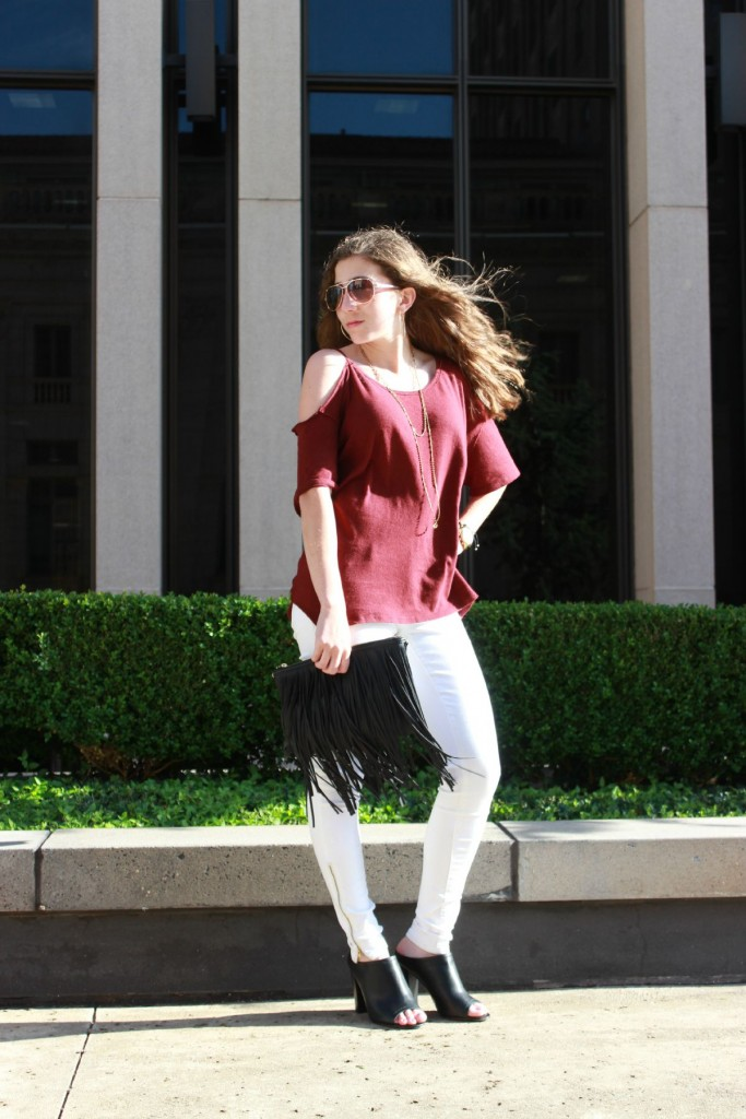 Shop Your Closet:  White Jeans For Fall