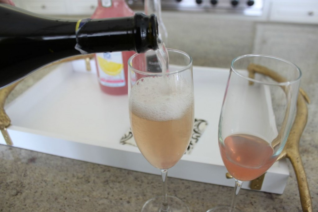 Pink Fizz Cocktail with Cupcake Proseco The OP Life 5