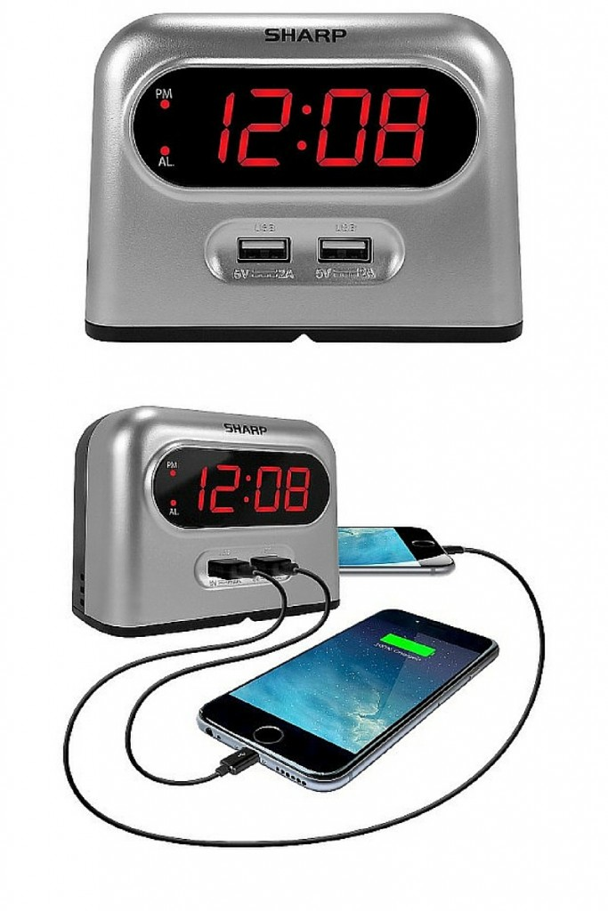 Alarm clock with USB port - The OP Life