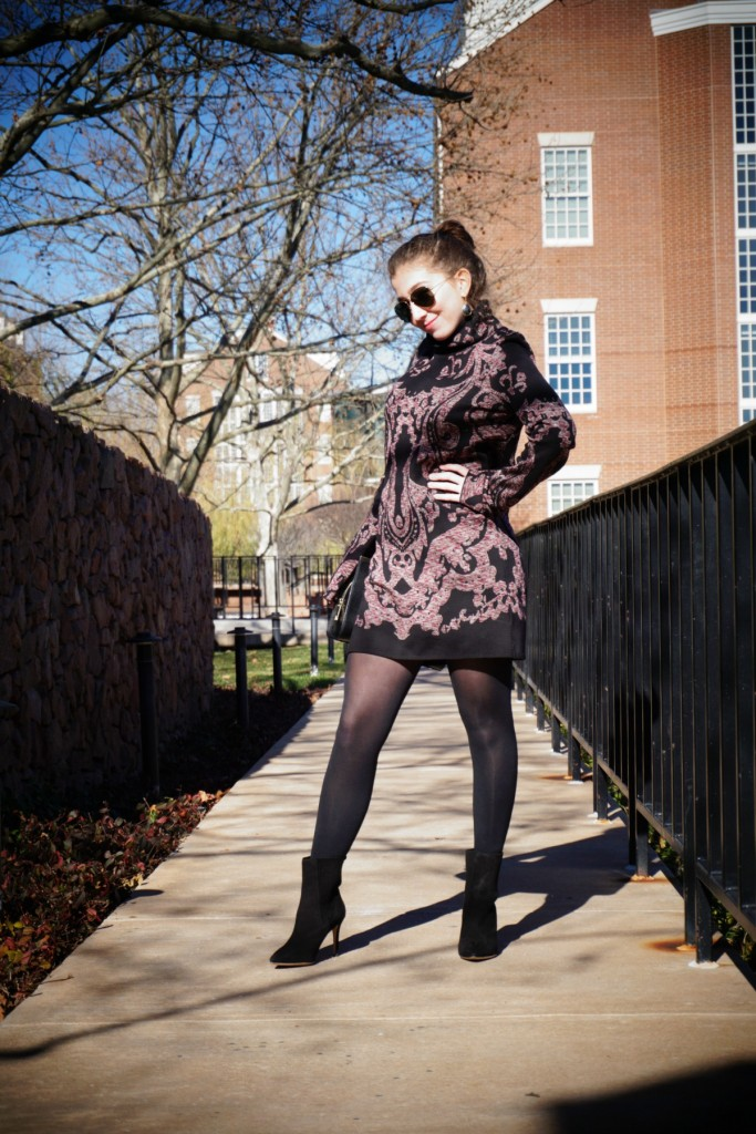 Free People Paisley Tunic Dress The OP Life 2 What To Wear: Birthday Brunch