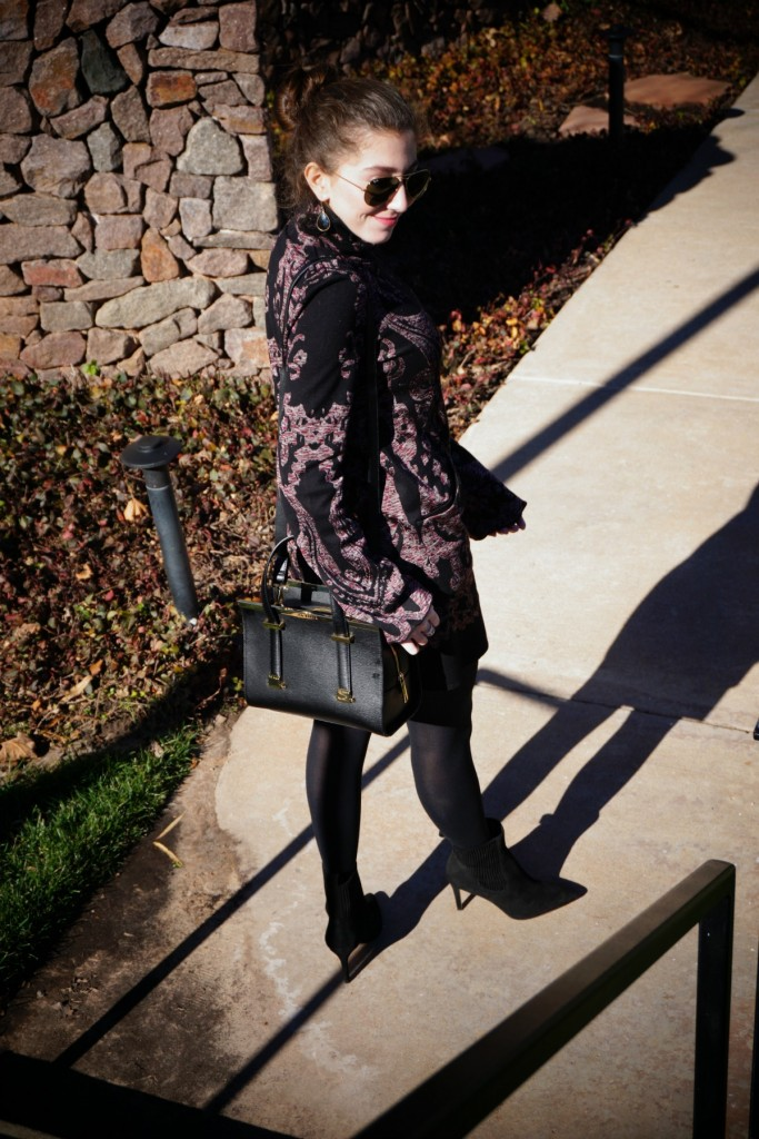 Free People Paisley Tunic Dress What To Wear Birthday Brunch 3