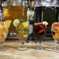 Sangria concotions at Sangria 71 in Williston Park include (l-r) De Cayman, San Mojo, Classic Red and Classic White.