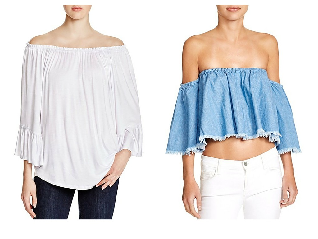 Off The Shoulder Tops w Statement Earrings TheOPLife.com