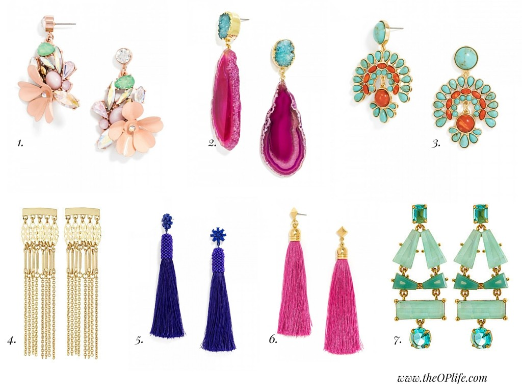 What To Wear:  Statement Earrings