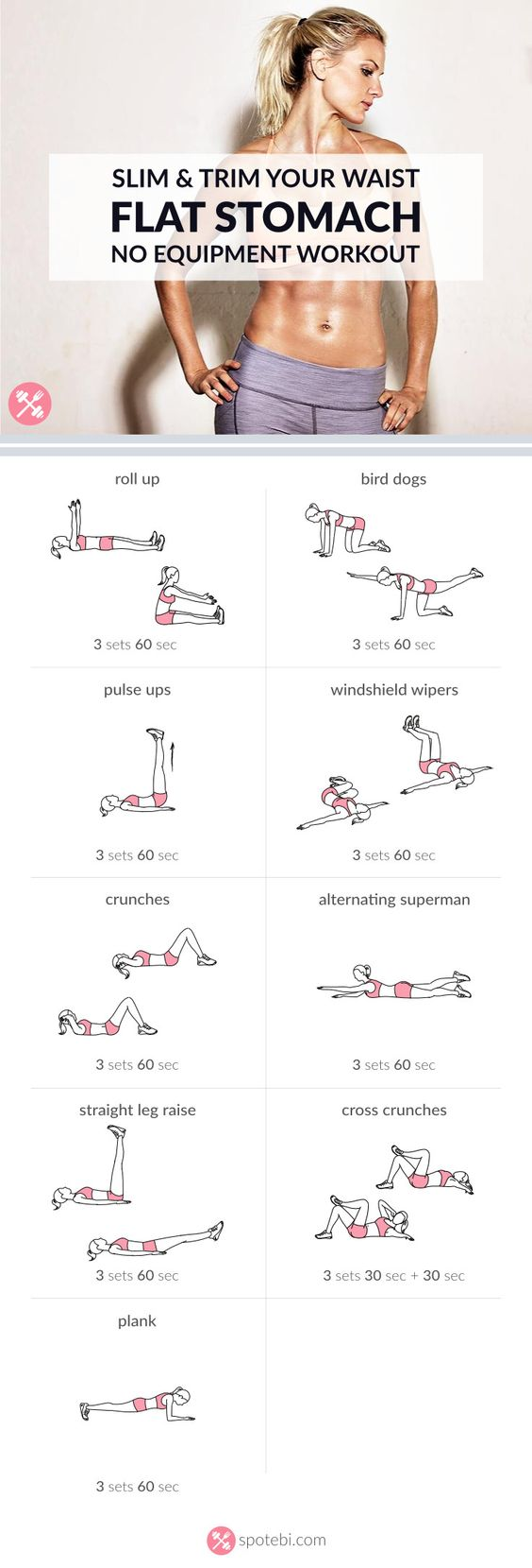 Ab Workout At Home TheOPLife.com