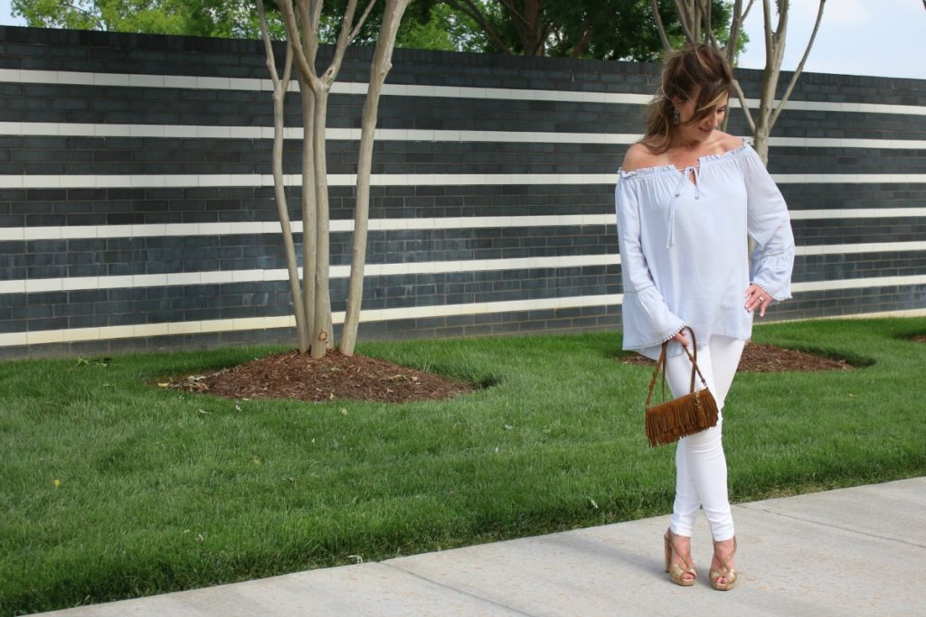 Off The Shoulder Flow Susan Hanover YSL TheOPLife.com