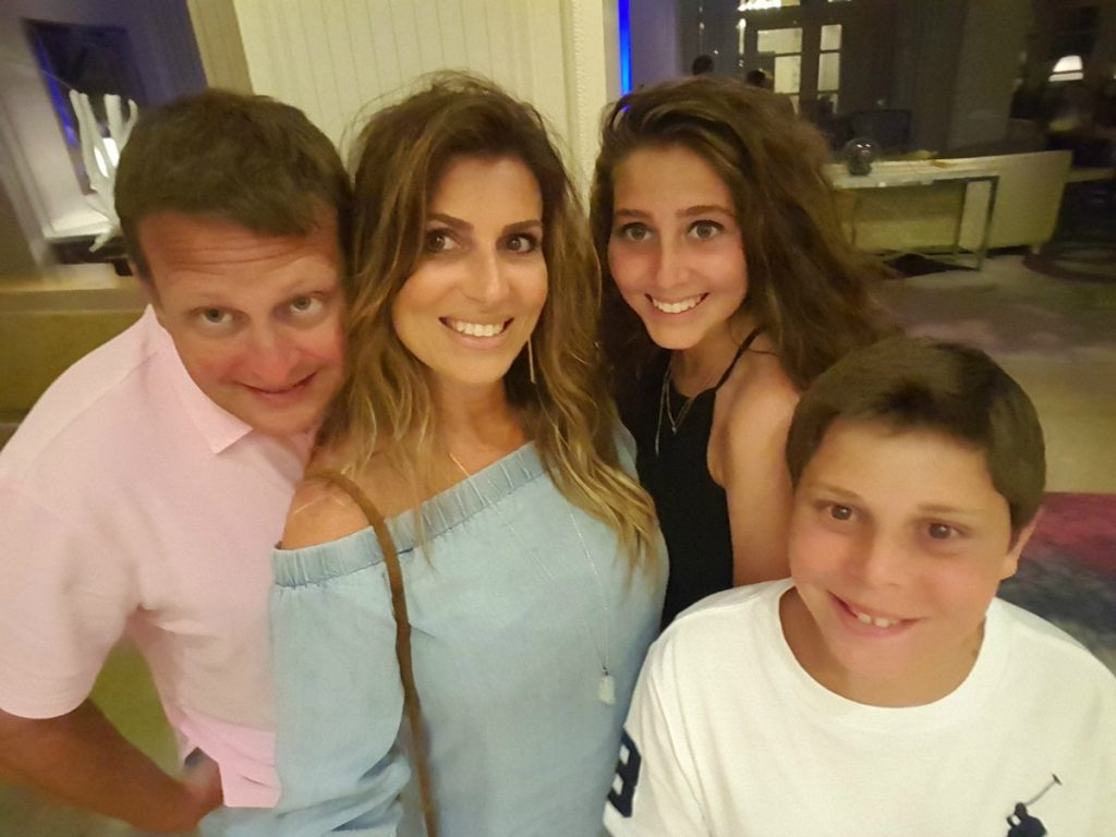 Family Selfie Postcard from Grand Cayman