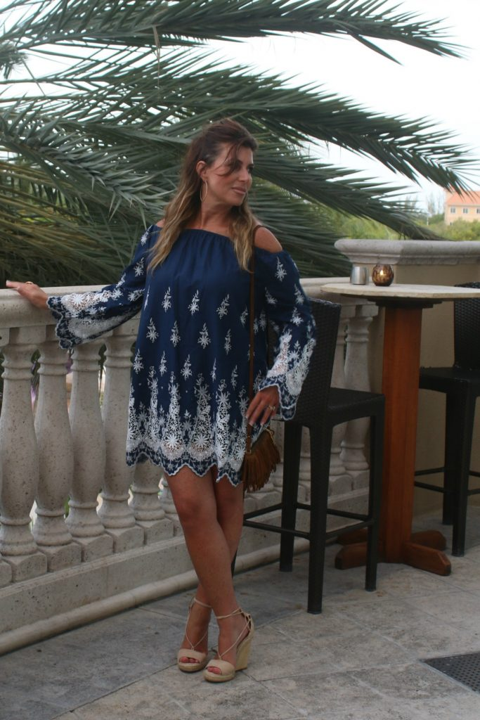 What To Wear Eyelet Off The Shoulder Island Style TheOPLife.com 8