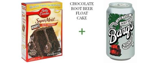 2 ingredient cake The OP Life Chocolate Root Beer Float Cake