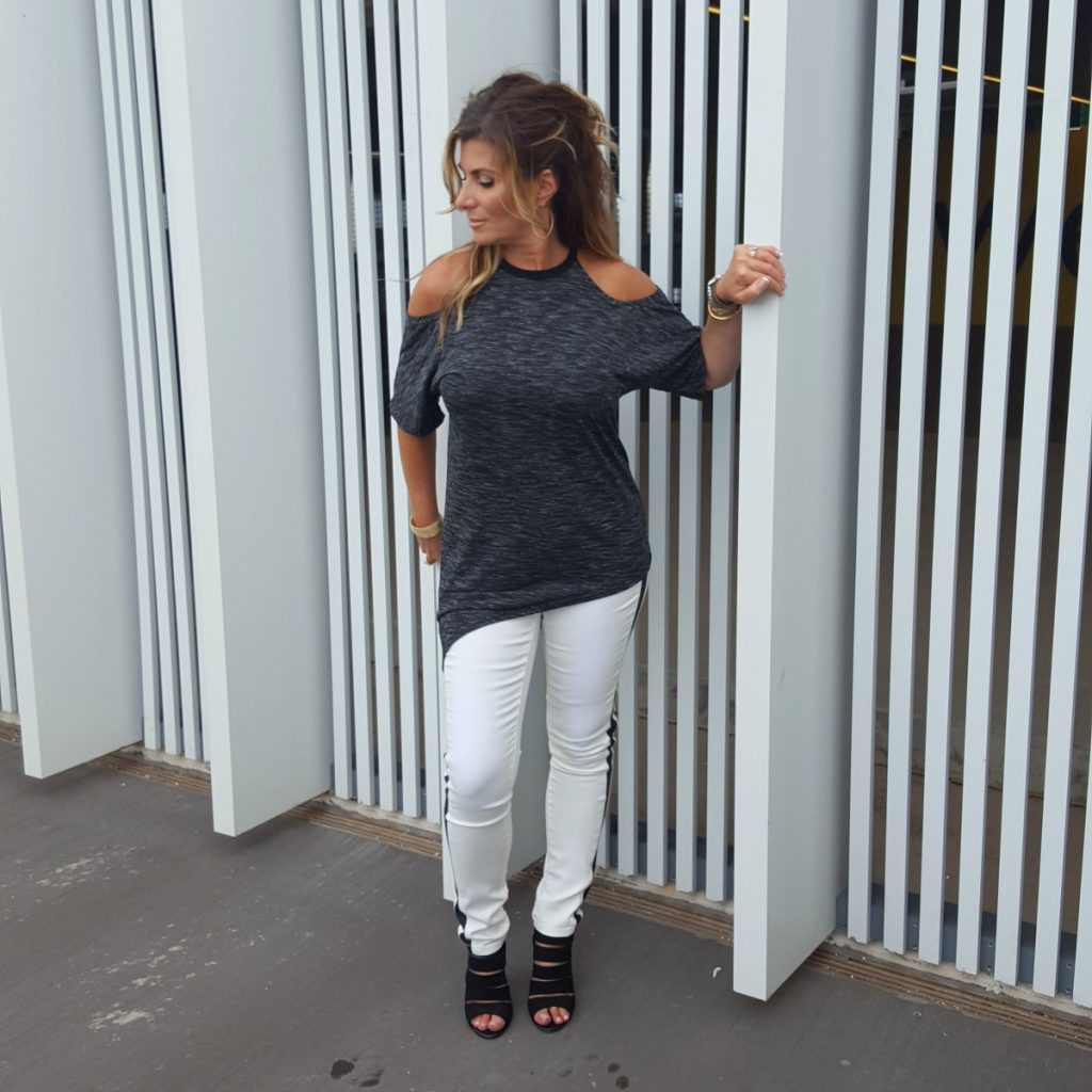 Cold Shoulder Asymmetric Tee The OP Life